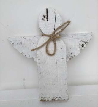 rustic angel White