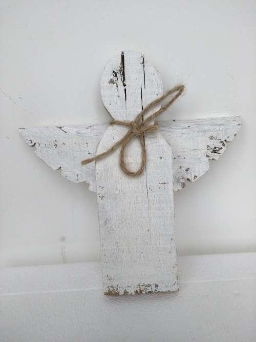 rustic angel White